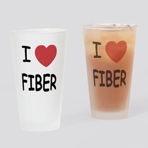 I heart fiber Drinking Glass