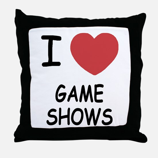 I heart game shows Throw Pillow