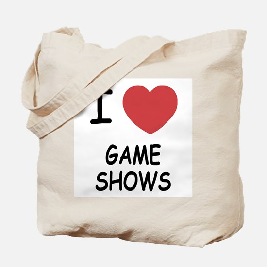 I heart game shows Tote Bag