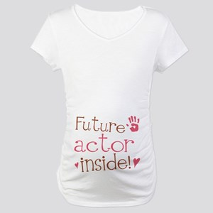 Future Actor Pink Maternity T-Shirt