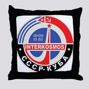 Interkosmos Throw Pillow