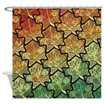 Celtic Leaf Tesselation Shower Curtain