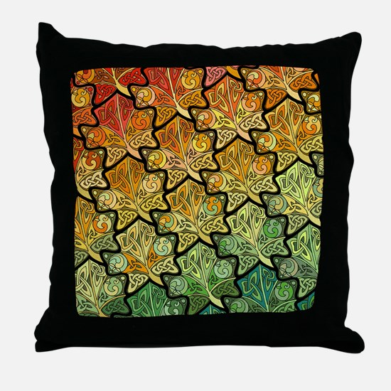 Celtic Leaf Tesselation Throw Pillow
