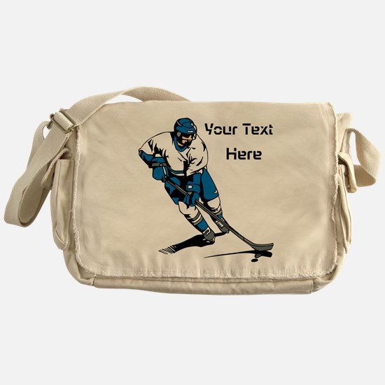 Icy Hockey. With Your Text. Messenger Bag