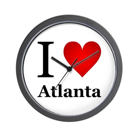 I Love Atlanta Wall Clock