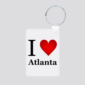 I Love Atlanta Aluminum Photo Keychain