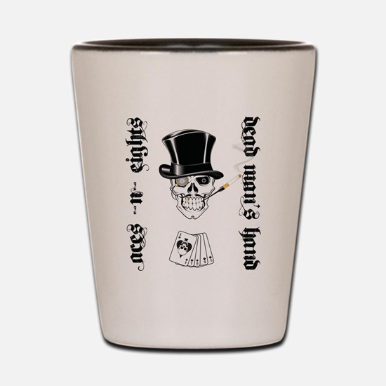 Aces -n- Eights Shot Glass