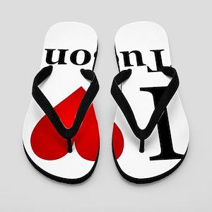 I Love Tucson Flip Flops