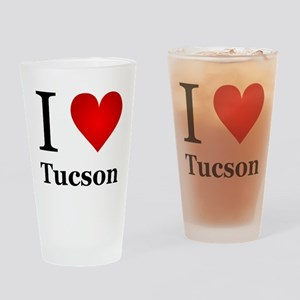 I Love Tucson Drinking Glass