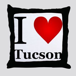 I Love Tucson Throw Pillow