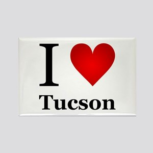 I Love Tucson Rectangle Magnet