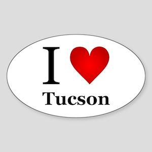 I Love Tucson Sticker (Oval)