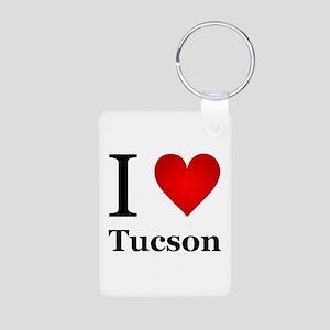 I Love Tucson Aluminum Photo Keychain
