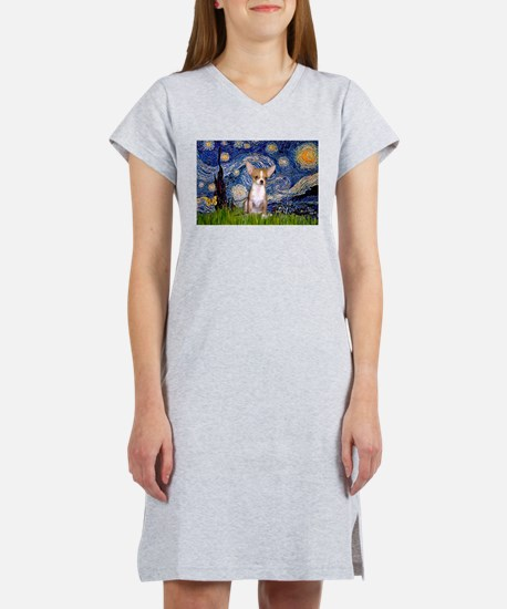 Starry Night Chihuahua Women's Nightshirt