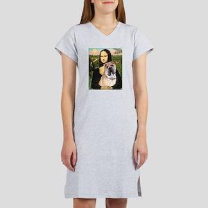 Mona Lisa's Shar Pei (#5) Women's Nightshirt