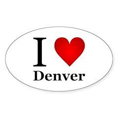I Love Denver Sticker (Oval)