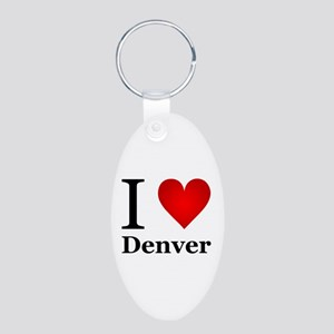 I Love Denver Aluminum Oval Keychain
