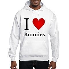 I Love Bunnies Hoodie