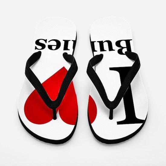 I Love Bunnies Flip Flops