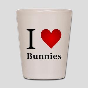 I Love Bunnies Shot Glass