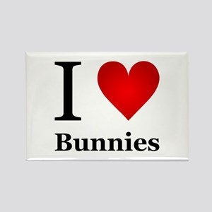 I Love Bunnies Rectangle Magnet