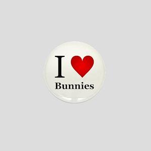 I Love Bunnies Mini Button