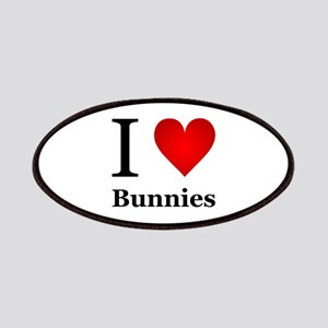 I Love Bunnies Patches