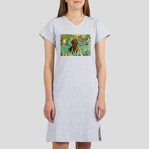 Irises & Dachshund Women's Nightshirt