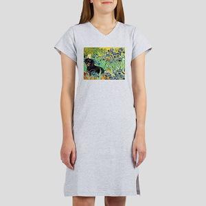 Irises & Dachshund (BT4) Women's Nightshirt