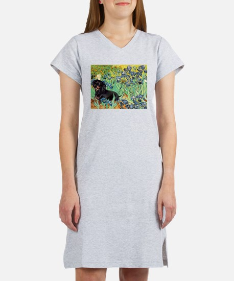 Irises & Dachshund (BT4) Women's Nightshirt