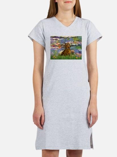 Lilies & Dachshund Women's Nightshirt