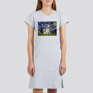 Starry / Fox Terrier (W) Women's Nightshirt