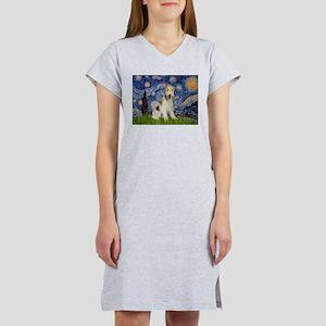 Starry / Fox Terrier (W) Women's Nightshirt