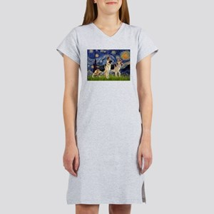 Starry / 2 German Shepherds Women's Nightshirt