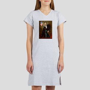 Lincoln & his Black Lab Women's Nightshirt
