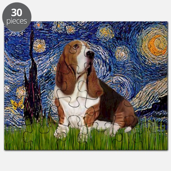Starry Night & Basset Puzzle