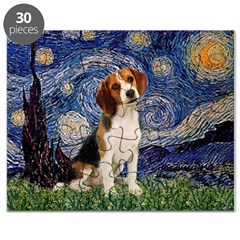Starry Night / Beagle Puzzle