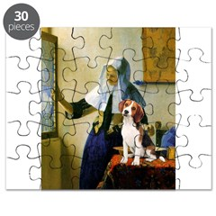Woman w/Pitcher - Beagle Puzzle