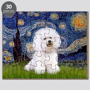 Starry Night Bichon Puzzle