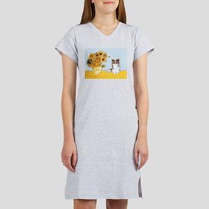 Sunflowers / Papillon(f) Women's Nightshirt