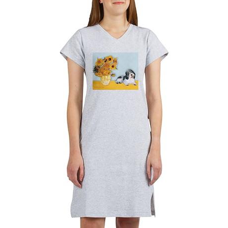 Sunflowers/PBGV Women's Nightshirt
