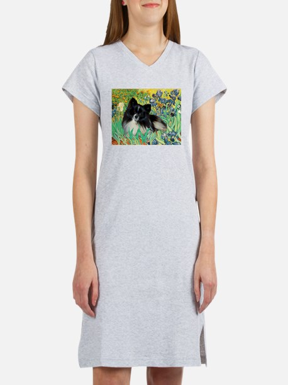 Irises / Pomeranian(bb) Women's Nightshirt