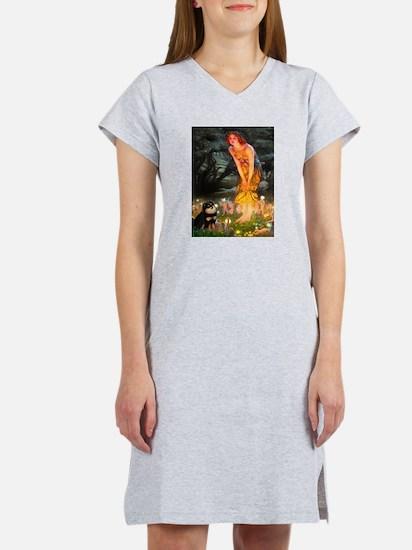 Fairies / Pomeranian (b&t) Women's Nightshirt