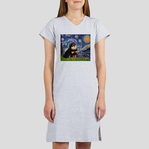 Starry Night / Pomeranian(b&t) Women's Nightshirt