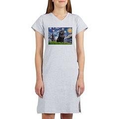 Starry / Schipperke #2 Women's Nightshirt
