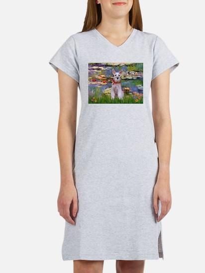 Lilies / M Schnauzer Women's Nightshirt