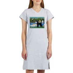 SCHNAUZER & SAILBOATS Women's Nightshirt