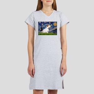 Starry Night/Sealyham L1 Women's Nightshirt