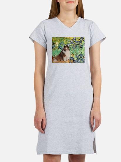 Irises / Sheltie Women's Nightshirt