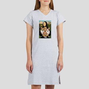 Mona / Corgi Pair (p) Women's Nightshirt